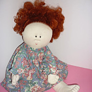 Little Souls Doll -Redhead with Freckles, Original Dress and Underpants