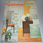 SOLD Lot of 5-includes~Canadian Homes and Gardens~ Mid Mod Mag- September 1957 Issue