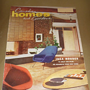 SOLD Lot of 4-includes~Canadian Homes and Gardens~ October 1956- Mid-Mod Magazine