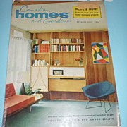SOLD Lot of 9 includes~Canadian Homes and Gardens~October-1957 -Mid-Mod Magazine