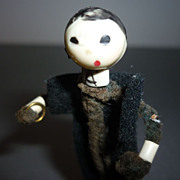"1930's Pipe Cleaner Doll -Groom holding a Ring  2 3/4"" tall"