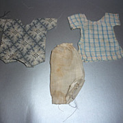 Three Pieces of Small Doll Clothes -Late 1800's- Primitive Style