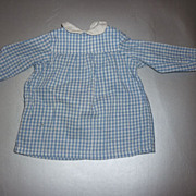 Sasha Doll-Blue Gingham Dress-Originally from late 1970's Doll