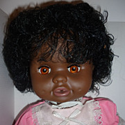 Shindana Baby Janie Doll -1969 - All Original,, tied in box- Stock #7020