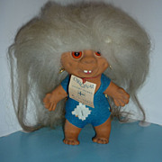 Suomi Peikko Finn Troll Doll-All Original With Hang Tag - 1960's