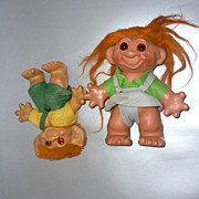 "1960's ~Pair Of Trolls~ English-8""  & Unmarked Bank- 7"""