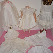 Vintage Doll Slip, Bloomers, Dress, Veil 1930's-50's Wonderful Whites-Stunning Lace Work