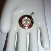 SALE 1960's Pendant Watch-Enamelled`17 Jewels`Swiss Made`Spendid