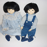 SOLD 1983~ Pauline B. Joness Jacobsen~ Asian ~Twin Dolls, Cute Duo