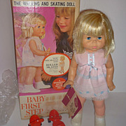 1960's Mattel Canada Baby First Step Doll-All Original with box