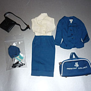 Mattel-Barbie~American Airlines Stewardess~ Outfit #984-Complete From 1961-1964