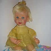 Mattel ~Baby Teenie Talk- Pull String -Talking Doll~ Works-Original Outfit 1964