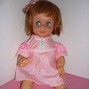 Mattel - Canada ~Baby See 'N Say Doll -Talking - Original Clothing - 1966 -HTF!