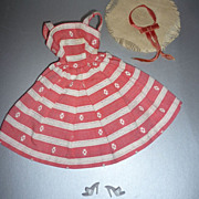 Mattel- Barbie ~Busy Morning~  Dress, Shoes & Hat #956 From 1963