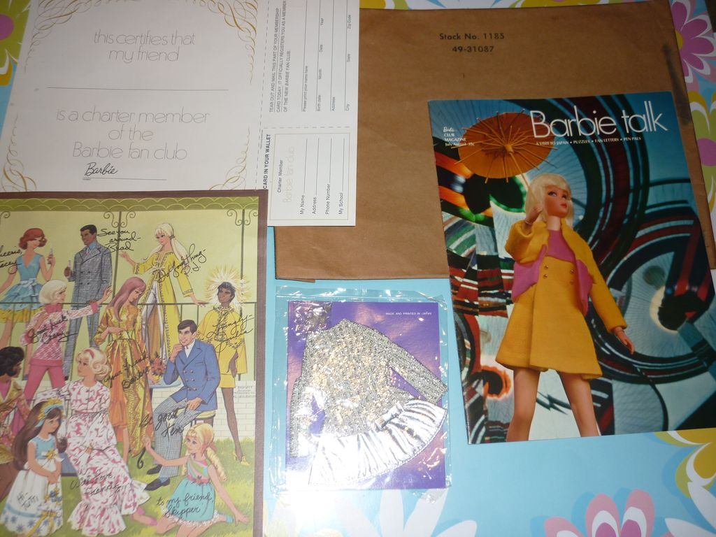 Mattel 1970 Barbie Fan Club Membership Kit with ~Salute To Silver`