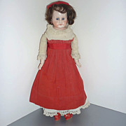 "Belton Type Doll - 15"" - Antique Clothing & Shoes -Cabinet Size"