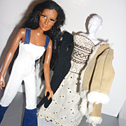 Mego Cher Doll & Clothing Collection 1970's- Rad Jumpsuit-White Shoes