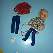 Mattel Chris Doll-Blonde & Two Skippin' Rope Outfits for Tutti #3604 -One Rare Variation