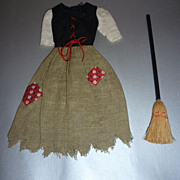Mattel Barbie-Cinderella Poor Dress and Broom~ #872 from 1964-65