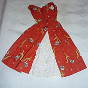 Mattel ~Garden Tea Party~ Dress For Barbie #1606 1964