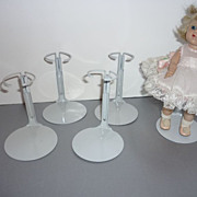 "Kaiser Doll Stands -Four- for Vogue Ginny Dolls or 8"" Dolls"
