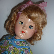 "Effanbee ~Little Lady Doll~  -18"" Tall  From The 1940's"