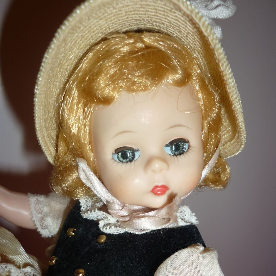 1960's Madame Alexander~Little Bo Peep Doll~All Original-Straw Hat