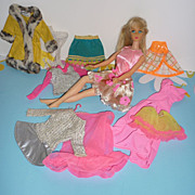 REDUCED Mattel TNT Barbie Doll Sun Kissed - + 10 Piece, Mod Clothing Lot - 2 Hangers