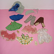SOLD Madame Alexander Doll Clothing 1950's-60's -Factory & Homemade 10 Pieces + Single Sock, S