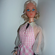 SOLD Quick Curl Barbie from Mattel- She is Swell & has Wrist Tag+Original O/F, with Brush etc