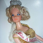 REDUCED Mattel- CANADIAN issue only Quick Curl Miss America Barbie 1973 HTF!!