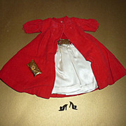 Mattel-Barbie~Silken Flame-#977 Complete~Red Flare-Coat~ #939