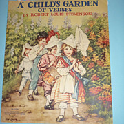 Saalfield -1937- A Child's Garden of Verse Book by Robert Louis Stevenson