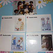 Lot of 5 ~Sasha Doll Catalogues~ 1970's and 1980's -Lovely pictures