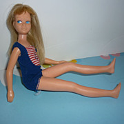 Mattel Bend Leg Skipper Doll -Bend Leg-Blonde Hair-Original Swimsuit