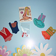 Mattel ~Skipper & Fluff Lot- Skipper Swimsuits For #1105, #950, #1030, Red Shoes, Skipper Pamp