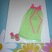 SOLD Mattel -Skipper ~Lullaby Lime~  #3473 Nightgown & Slippers 1971-72