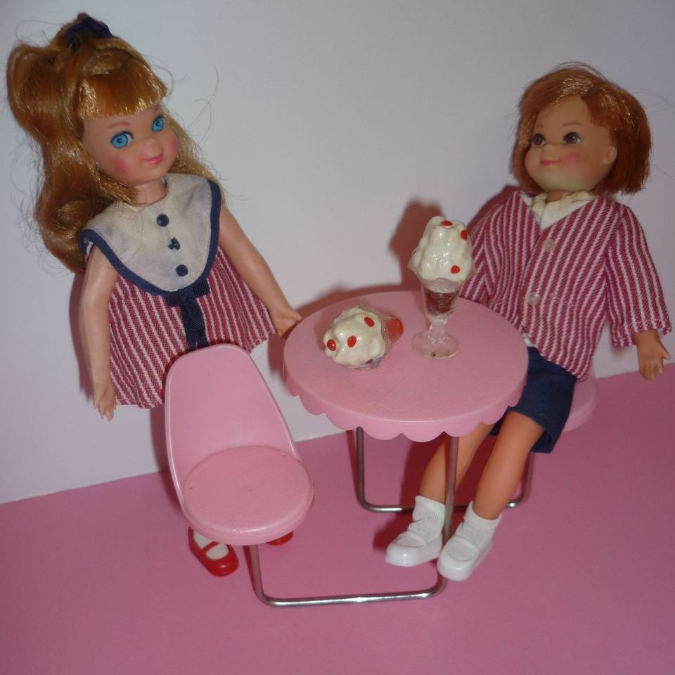 Mattel ~Tutti and Todd ~Sundae Treat~ 1966-68  Cute Set-HTF!