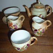 Antique- Doll's Tea Set Pieces~Present from Windermere~7 Odd Pieces-Floral Design