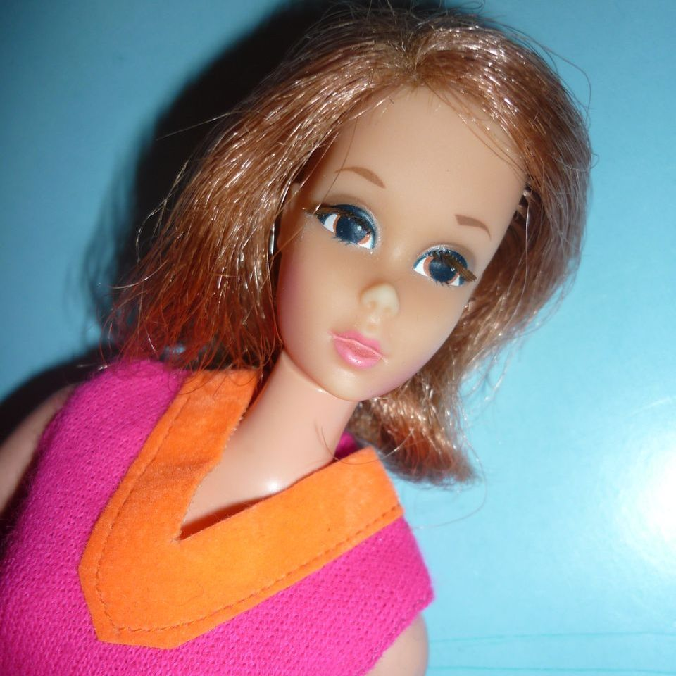 Mattel Walking Jamie Doll-1972 Wears Fringe Benefits Dress 1971-72