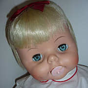 "1965- Deluxe Reading ~Baby Boo Doll~ 21"" Tall -Original clothing & Cellophane -Never Play"