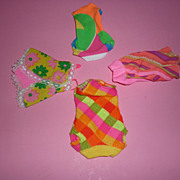 SOLD Mattel-Mod Swimsuit Lot  for TNT Barbie, Stacey, Francie-1968-71