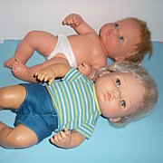 Two Mattel Dolls~ Baby Brother Tender Love & Newborn Baby Tender Love~All Original Dolls