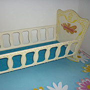 "REDUCED Mattel~ Baby Tender Love Crib~ For 16"" Baby Tender Love Doll 1970's- HTF"