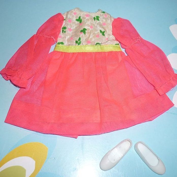 Skipper's~ Budding Beauty~ Dress and Shoes, #1731 from 1970
