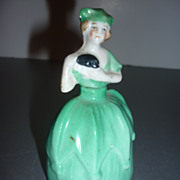 "SALE PENDING German China Doll-Perfume Bottle- 4"" tall ~1930's-40's"
