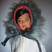 Mattel-Eskimo Barbie- #03898 From 1982-First Edition- Original Outfit-Unplayed With