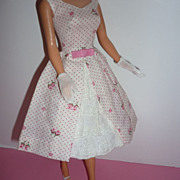 Mattel-Barbie ~Garden Party~ #931  From 1962-1963 -Dress, Shoes, Gloves
