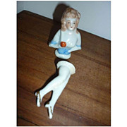 Vintage Half doll and Legs- Pretty Lady, Marked Foreign
