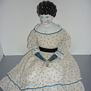 "1890's -Hertwig Pet Name - China Head Doll~Marion~ 27"" Alphabet Body -Charming Big Girl"